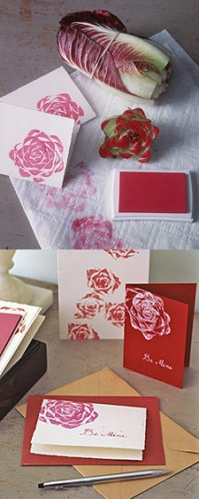 How to make a Vegetable Print Cabbage rose