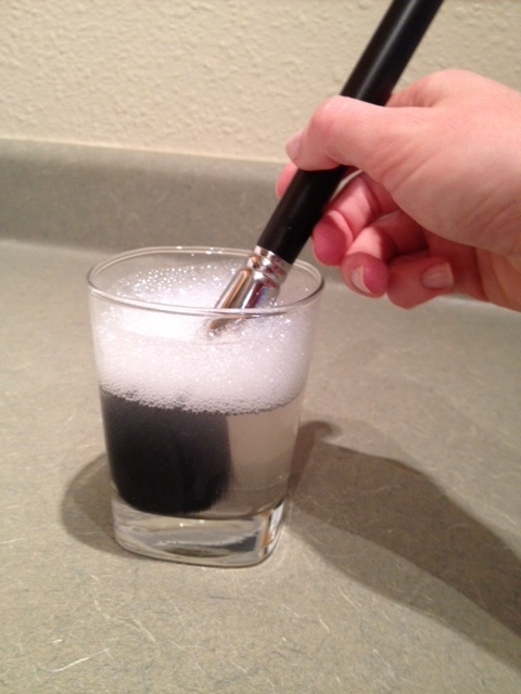 How to properly clean your makeup brushes.