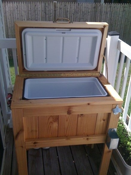 diy patio deck cooler