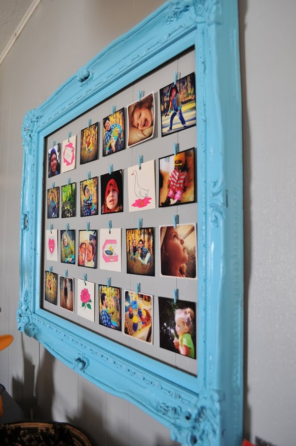 Diy Clothesline Frame Makes It Easy To Change Out Photos