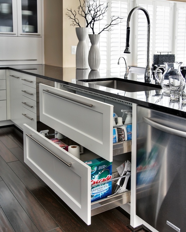 Sink drawers – much more useful than sink cupboards.