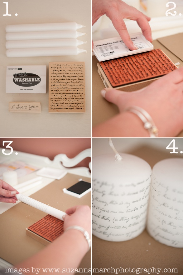 How to make personal stamped candles