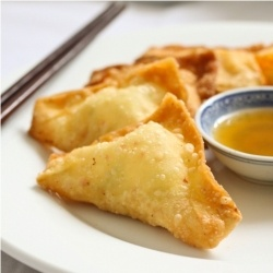 Crab rangoon or cheese wonton is one of the chinese for Appetizers to make at home