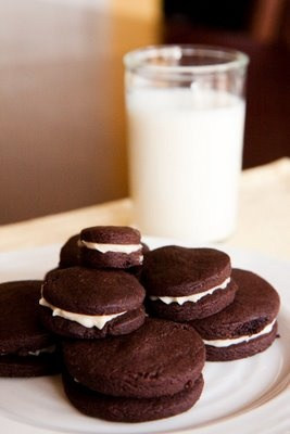 Homemade Oreo Cookies.