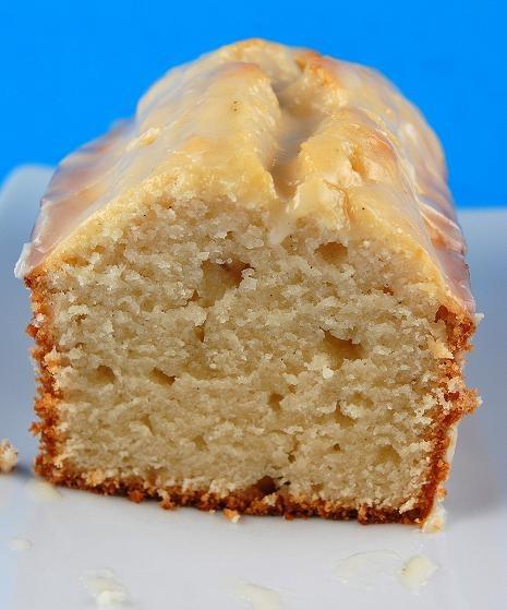 Vanilla yogurt cake with orange glazeApplePins.com