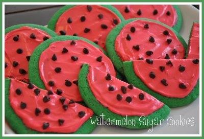 Watermelon Sugar CookiesApplePins.com