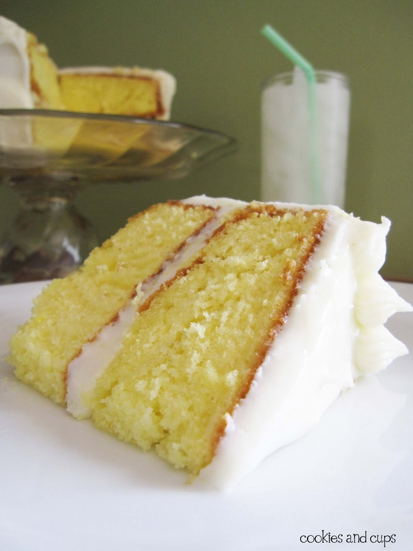 lemonade cake with lemon cream cheese frosting-and it uses a cake mix ...