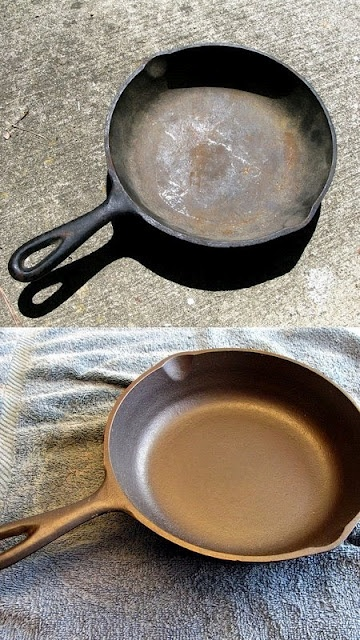 How to restore a cast iron pans