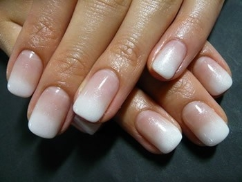 Ombre french manicure – so much cuter than a regular one