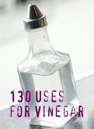 130 uses for vinegar! wow!