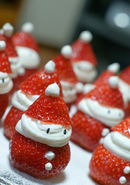 Strawberry santas with cool whip