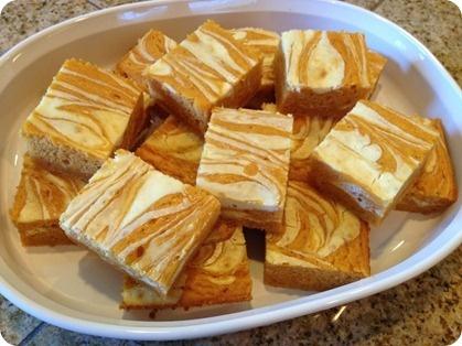 Pumpkin cream cheese bars–