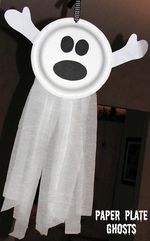 DIY Paper Plate Ghost
