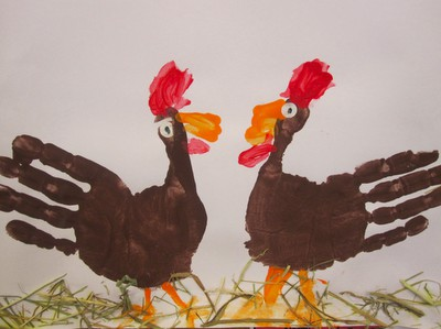 DIY turkey handprints