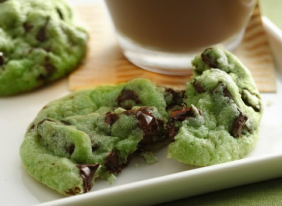Grinch Cookies ~Mint Chocolate Chip. I need to make this for Christmas!