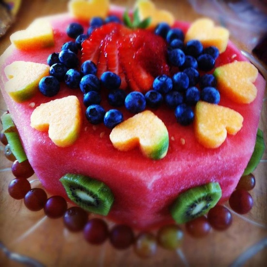 all fruit birthday cake - photo #5
