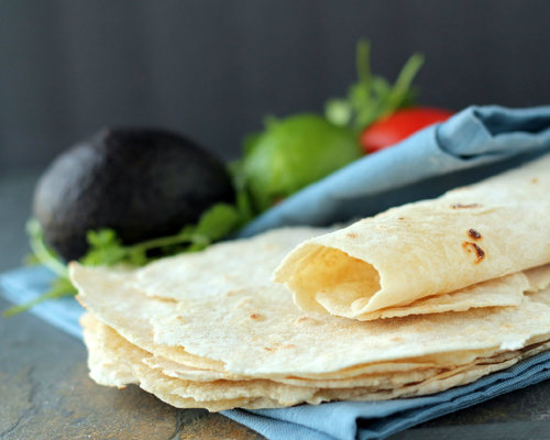 Healthy Homemade Flour Tortillas