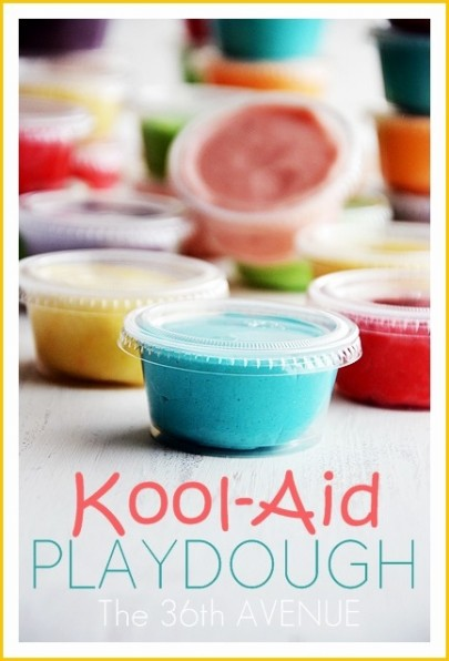 DIY Kool-Aid Playdough Recipe