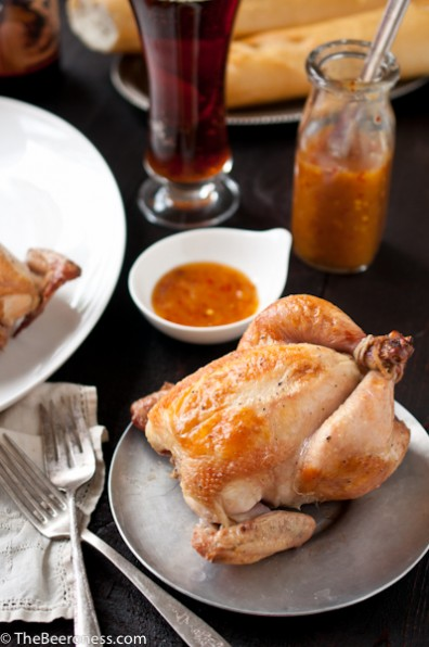 Beer Brined Roasted Cornish Game Hens with Orange Chili SauceApplePins ...