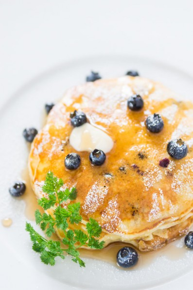 Blueberry Yogurt Pancakes