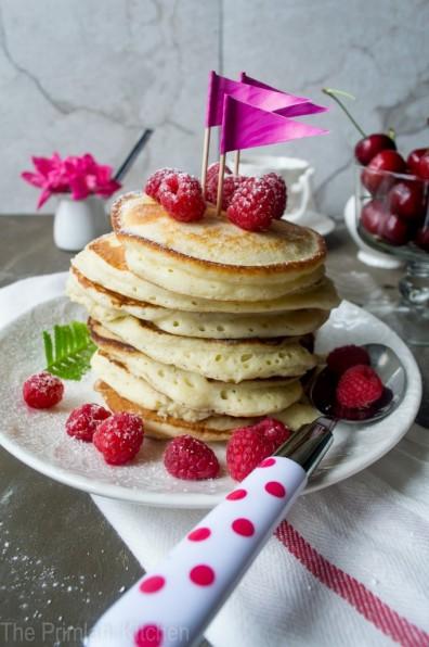 Lemon-Ricotta Pancakes with RaspberriesApplePins.com