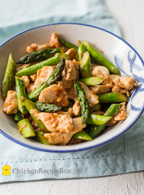 Asparagus and Chicken Stir Fry