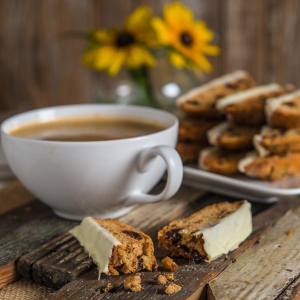Biscotti with Dried Cherries, Macadamia Nuts, and White Chocolate