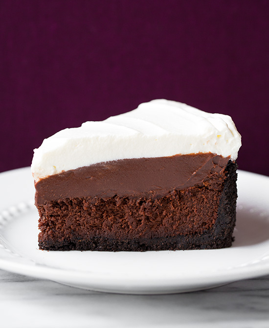 Mississippi Mud Pie With Chocolate And Vanilla Pudding