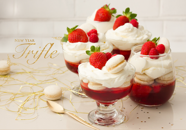 Delicious New Year Strawberry Truffle Trifle