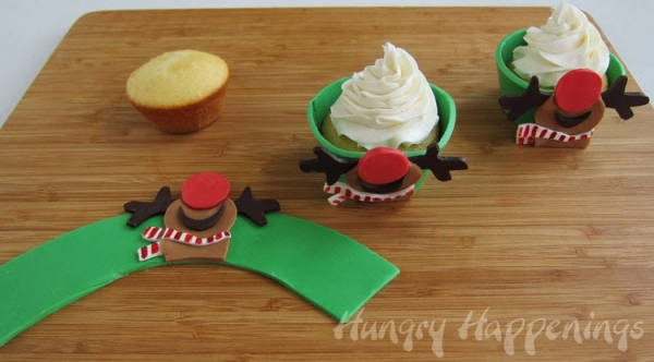 Edible Rudolph Cupcake Wrappers