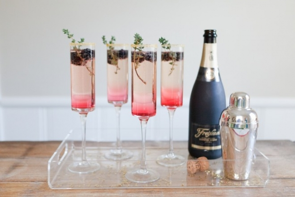 New Years Eve Blackberry Thyme Sparkler
