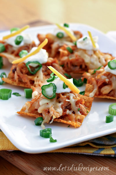 Sweet and Spicy BBQ Chicken Nachos