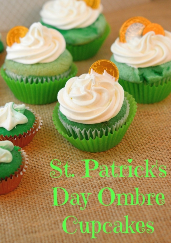 St. Patrick's Day Ombre Cupcakes