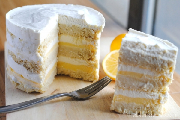 Hawaiian Coconut Lemon Layer Cake