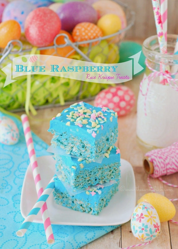 OMG Blue Raspberry Rice Krispie Treats