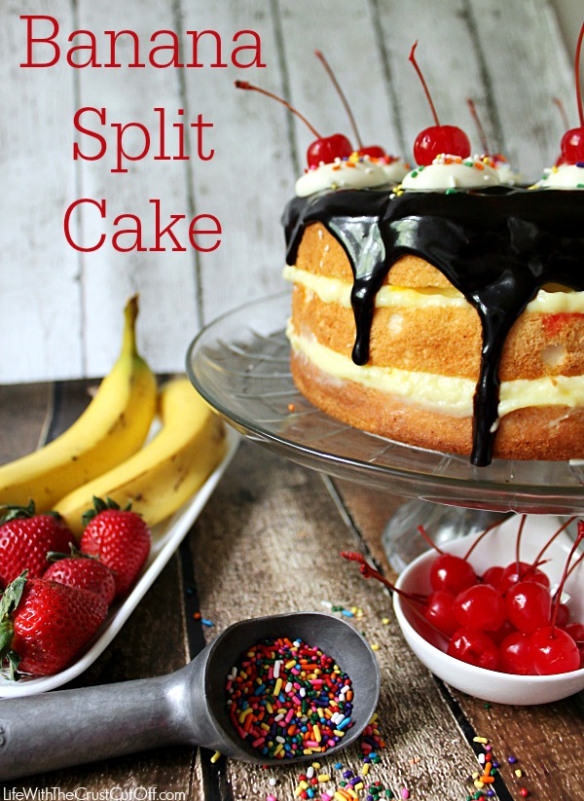 Easy Banana Split Party Cake