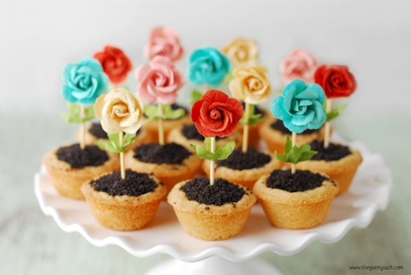 Easy Mothers Day Flower Pot Cookies GREAT IDEA!