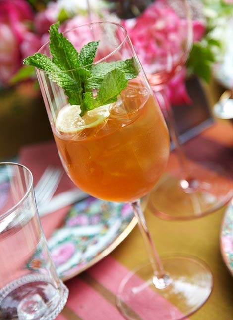 Sweet Lucy (bourbon) Mint Tea
