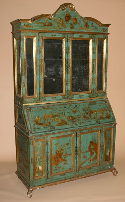 antique bookcase/bureau