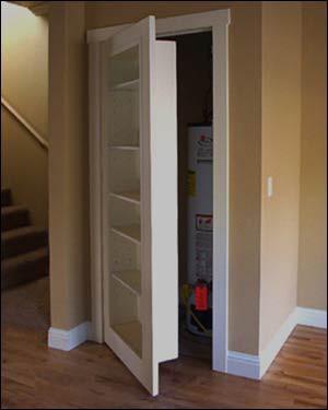 Bookshelf closet door