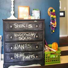 Love the idea – great for a child's dresser!