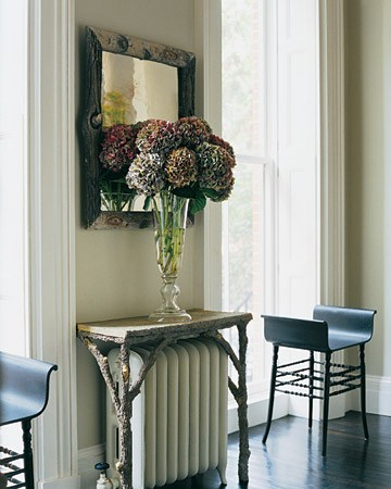 small table over the radiator