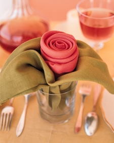 How To Make Rose Napkins
