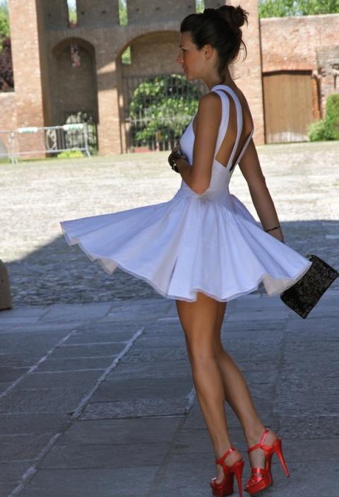 Gorgeous Heels…Darling Summer White Dress