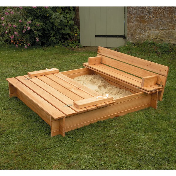 covered sandbox..open and you have built in seats