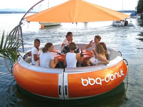 Floating BBQ Boat How Fun!!