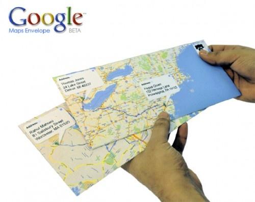 DIY:  Google map envelopes