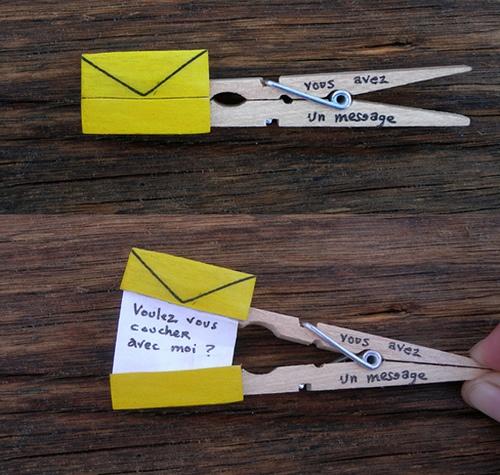 DIY clothespin letter genius