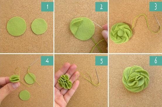 DIY Felt rosette