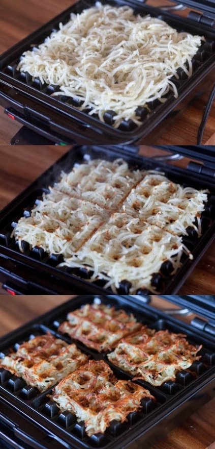 How to: cook hash browns in a waffle iron